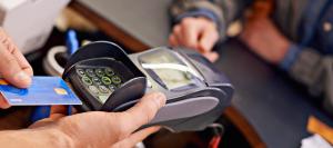 EMV terminal accepting chip card transaction