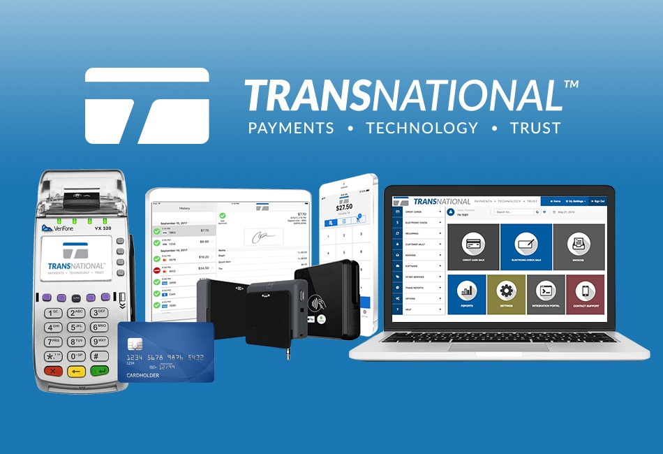 TransNational Payments' credit card terminal, mobile payment processing and online payment processing solutions